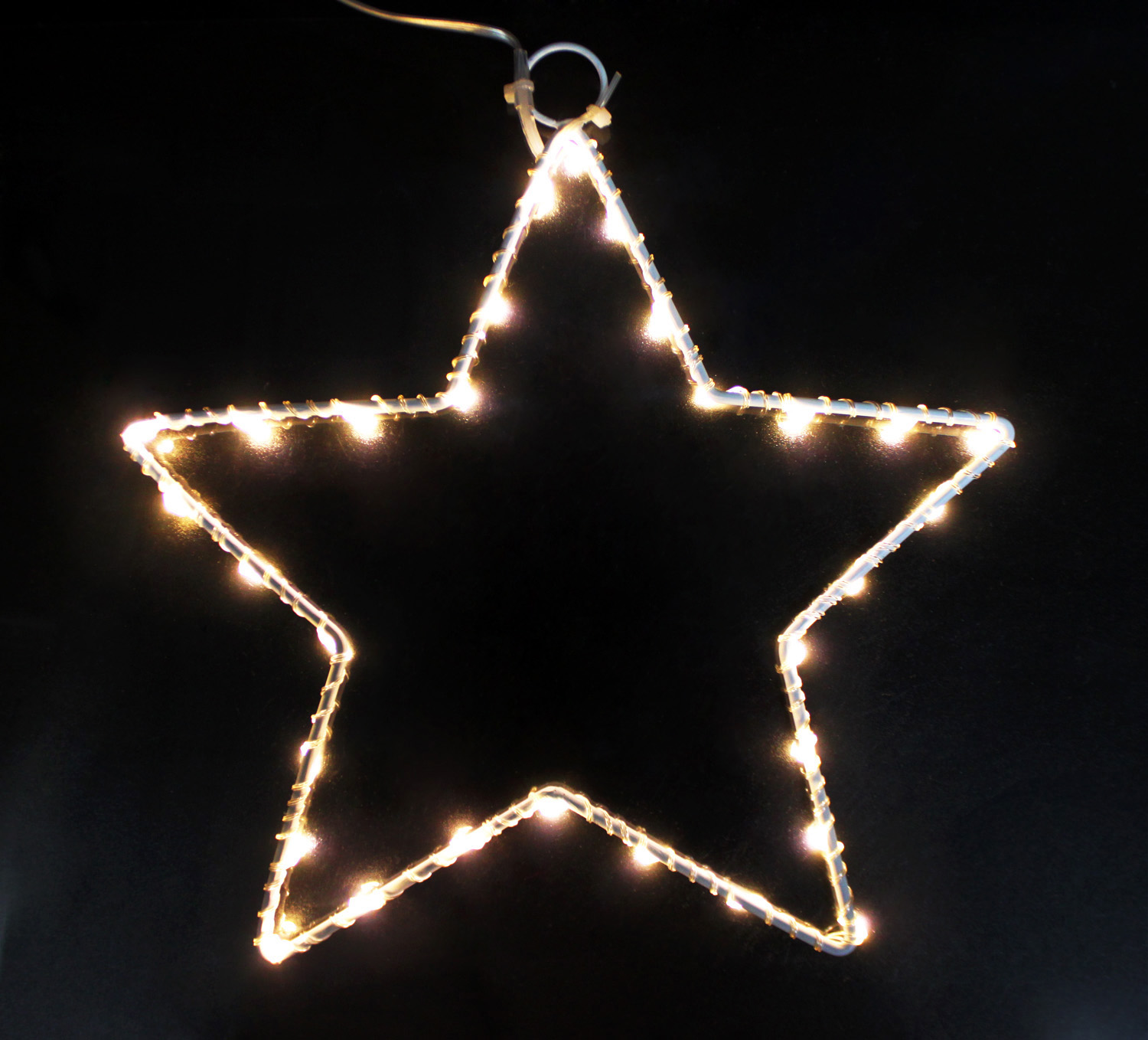 LED string light with iron star bracket