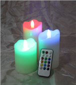 remote control RGB candle