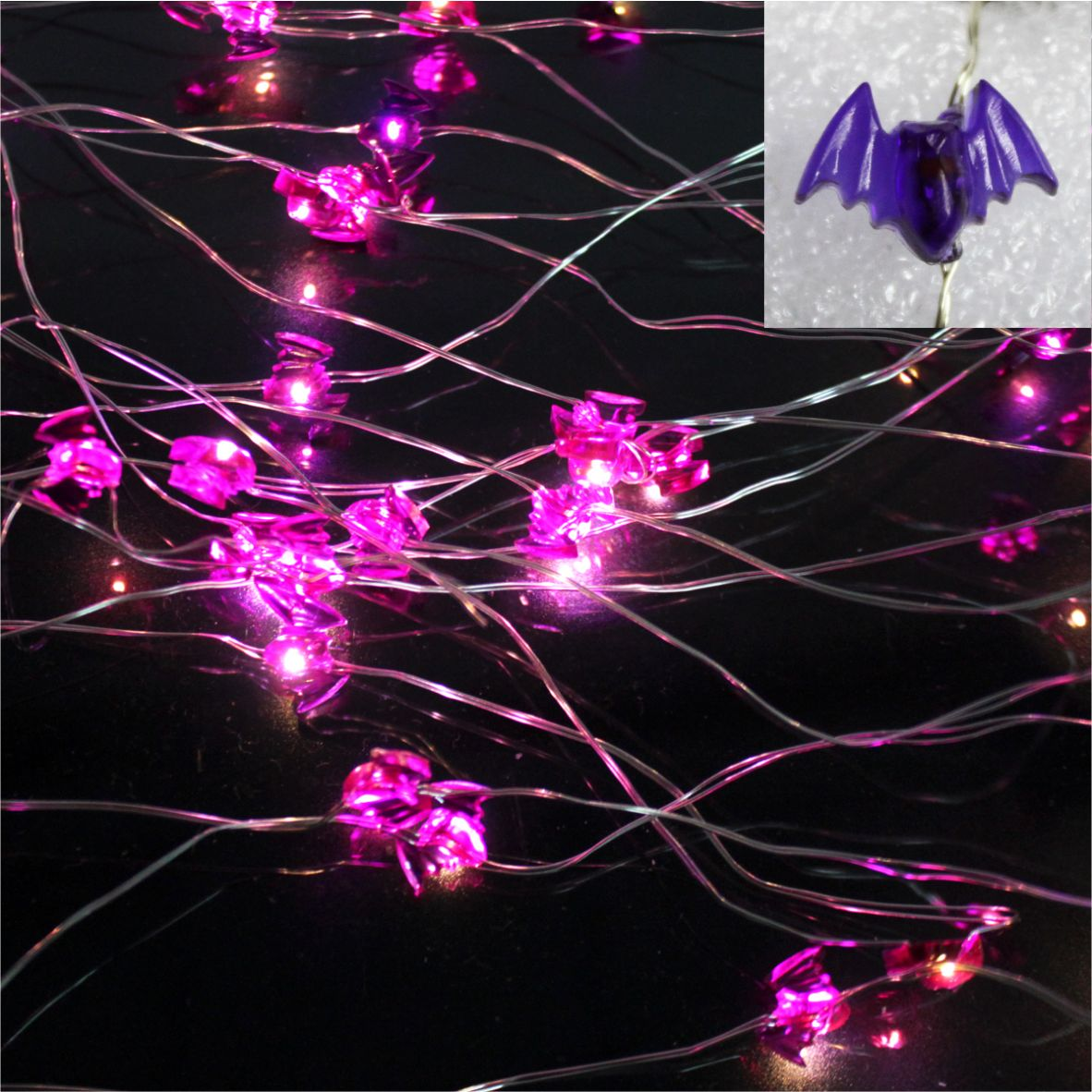 LED string light bat ornament