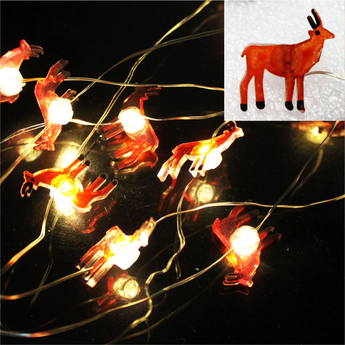 LED string light deer ornament